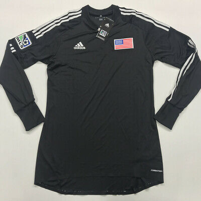 8583d2a2421a4 NWT ADIDAS MEN Chelsea Climacool Top Jersey L/S Tee Soccer Black ...
