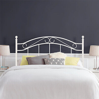 Mainstays Full/Queen Metal Headboard,Traditional, Master/Guest Bedroom, White