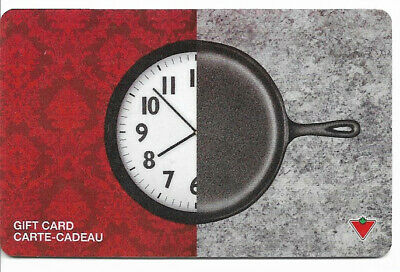 Canadian Tire Gift Card Var-Cf-03 Clock Frying Pan
