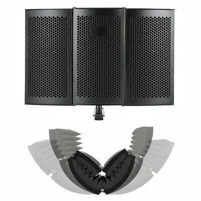 Foldable Microphone Isolation Shield Studio Acoustic Recording Sound Absorber US