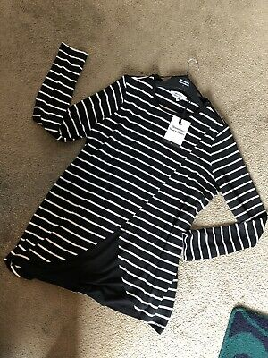 Blooming Marvellous Ladies Black White Stripe Nursing/Maternity Top SMALL 8-10