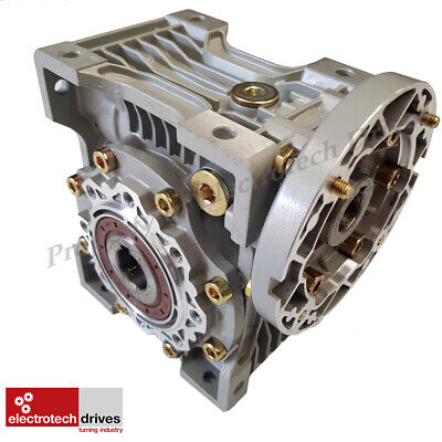 Size 075 Right Angle Worm Gearbox - Various Ratios- Motor Ready EMRV075 NMRV075