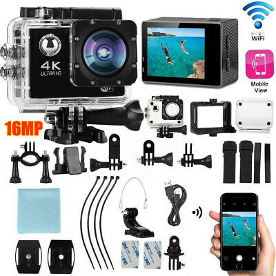 Ultra 4K 16MP 1080P Sport WiFi Cam Action Camera DV Video Recorder Go Pro Remote