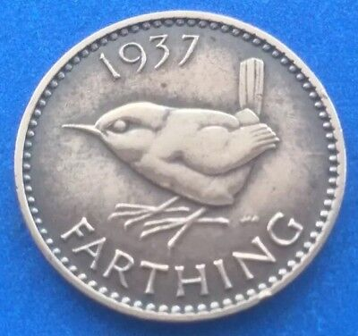 1937 King George Vi Farthing Coin 82Nd Birthday