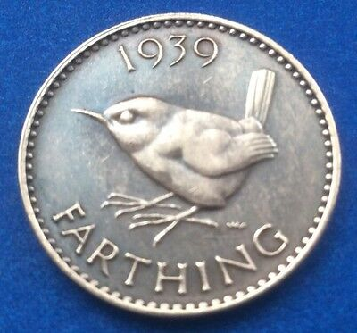 1939 King George Vi Farthing Coin 80Th Birthday