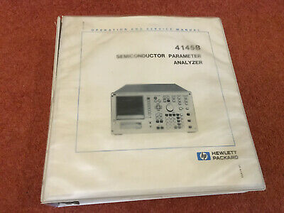 HP 4145B Semiconductor Parameter Analyzer Operation and Service Manual