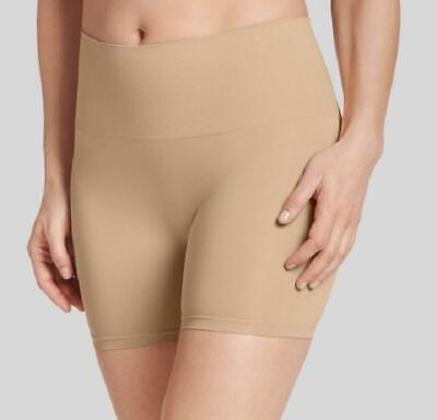 JKY by Jockey Women's Beige Muffin Tamer Slimming Shorts, Size Small