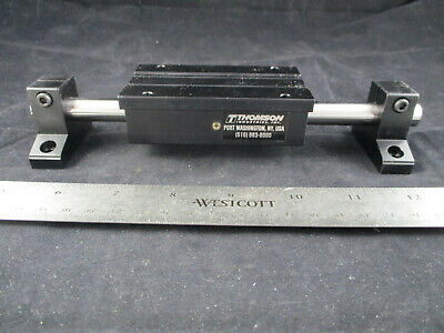 lot of 5 THOMSON 1BA08BH0L Linear Guide, 1BA, Round Shaft, End supported