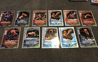 TOPPS WWE SLAM ATTAX CARDS SILVER/FOIL (11 Cards)