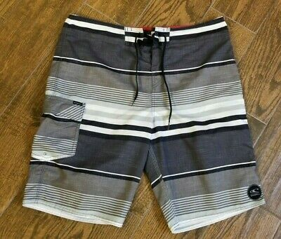 3d62576861 Men's Size 34 O'Neill Board Shorts Swim Surf Trunks Red White Black Stripe  NICE