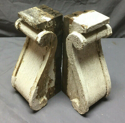 Pair Antique Corbels Shelf Brackets Shabby Vintage Chic 253-19L