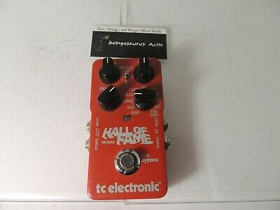 TC Electronics Hall of Fame Reverb Effects Pedal Full Size Free USA Ship