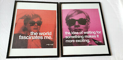 PRINT POSTER 11x14 ANDY WARHOL The idea of waiting for some