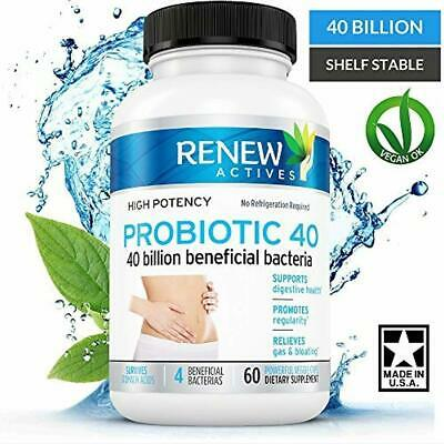 Double Strength Probiotic 40 Billion - Helps Eliminate Harmful Toxins Waste! Kic