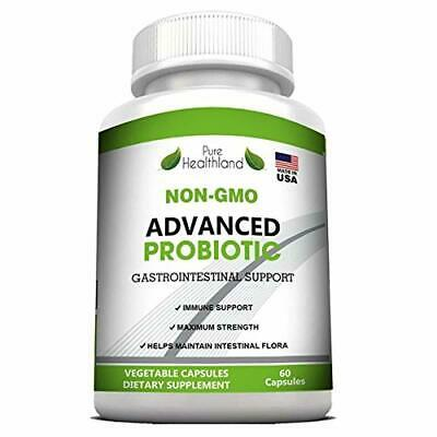 Non-GMO Advanced PROBIOTICS Supplement for Men and Women - Immune and Digestive