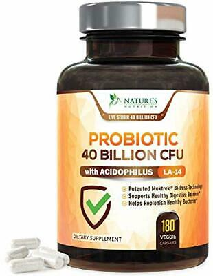 Probiotic Supplement 40 Billion CFU for Digestive Health - Extra Strength Probio
