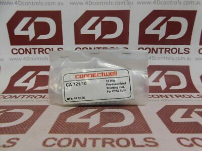 Connectwell CA721/10 Terminal Block Jumper 10 Way (Qty 10) - New Surplus Sealed