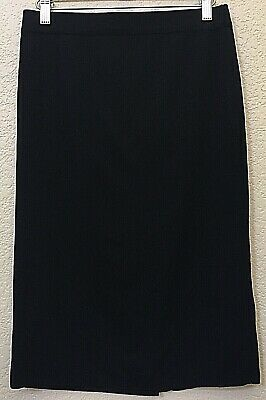 20d61b8abf0a Exclusively Misook Straight Pencil Skirt Womens SZ SP Pull On 100% Acrylic  Black