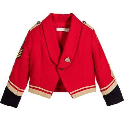 NWT STELLA McCARTNEY Kids UNISEX RED MILITARY LEE JACKET SZ 10 years GIRL BOY