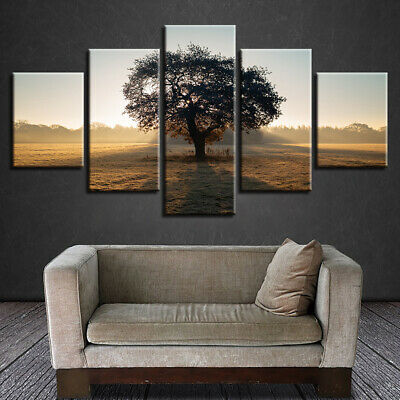 5PCS/set Modern Home Room Wall HD Picture Art Tree Spray Painting Canvas