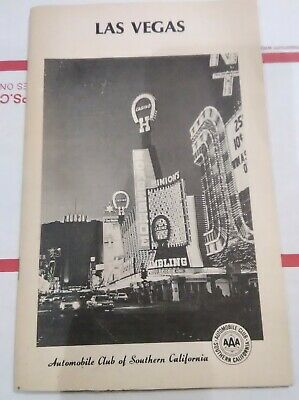 California Aaa Auto Club Las Vegas, Nevada Flyer Great For Vintage Collection!