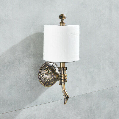 Wall Mount Roll Toilet Paper Holder Antique Brass Upright Bathroom Roll Toilet