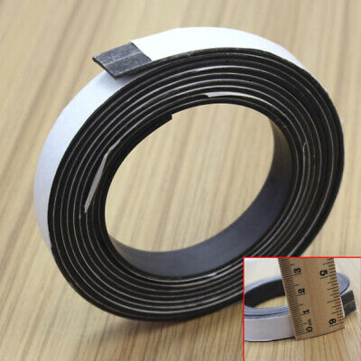 1-2m Self Adhesive Flexible Soft Rubber Magnetic Tape Magnet DIY Craft Strip New