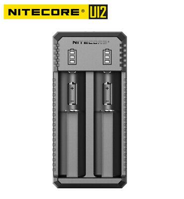 NITECORE U I2 USB Smart Charger for Li-ion IMR 18650 18350 16340 26650 13500