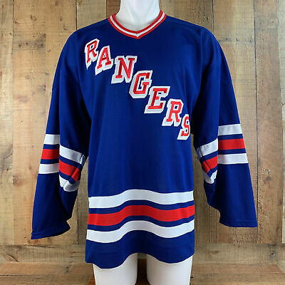 ae348d887bb Vintage New York Rangers Authentic Gerry Cosby CCM Jersey Size XXL 2XL