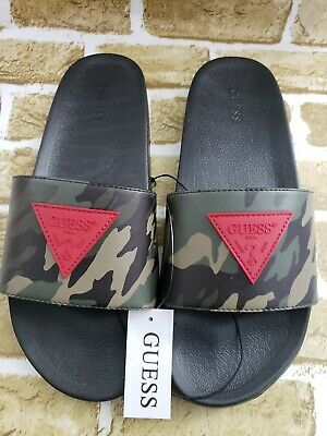 9869d9b9a65ae Guess Men's Slide Sandals Slipper Guess Logo Camouflage Color Size 9/10/11/