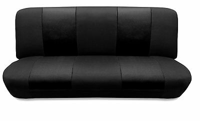 Black Mesh FULL SIZE BENCH Seat Cover Fit's Most Classic cars.