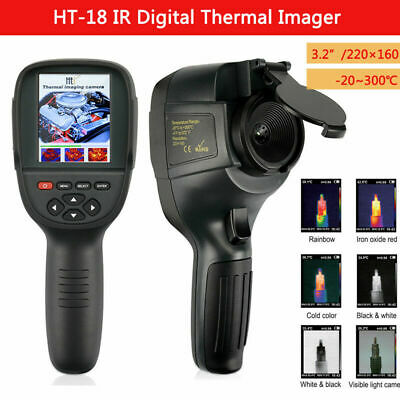 "HTI HT-18 Thermal Imager Imaging Camera 0.3MP IR Infrared 3.2"" Display 220x160"
