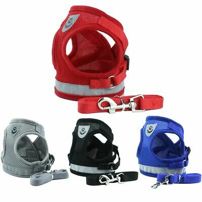 Pet Cat Walking Harness and Leash Adjustable Reflective Strap Vest for Small Dog