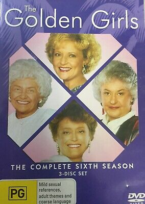 THE GOLDEN GIRLS - Season 6 3 x DVD Set Exc Cond! Complete Sixth Series Six