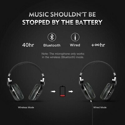 Bluedio T2S Wireless Headphones Bluetooth 5.0 Stereo iPhone Headsets with Mic