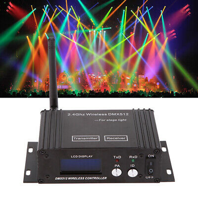 Wireless DMX512 Controller Transmitter Receiver LED Stage Lighting Repeater US