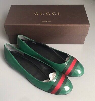 92d3eb78c Gucci Women Flat Shoes Green Color Size 39 / 8.5 US Made in Italy Authentic