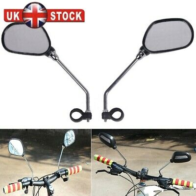 Bike Mobility Scooter Bicycle Handlebar Mirrors With Safety Reflectors Long Stem