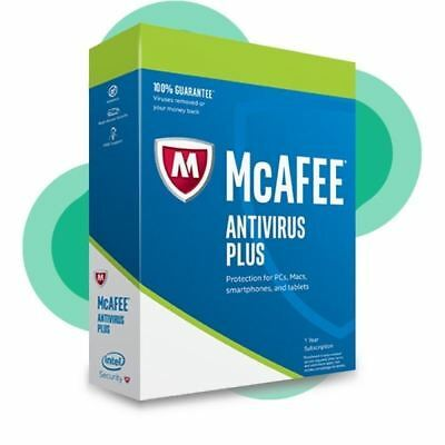 Mcafee Antivirus Plus 2018 Unlimited Appareils / 1 An Protection Authentique