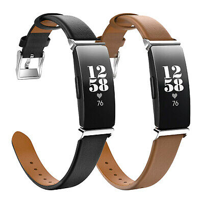 MoKo Genuine Leather Replacement Strap Watch Band for Fitbit Inspire/Inspire HR