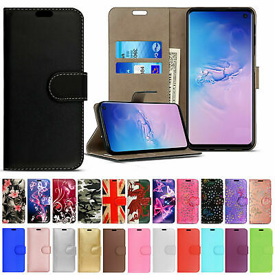 FOR Samsung Galaxy S7 S8 S9 Plus S10 FLIP LEATHER WALLET BOOK Phone Case Cover