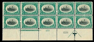 Momen: Us Stamps #294 Plate Block Of 10 Mint Og Nh Intact Vf