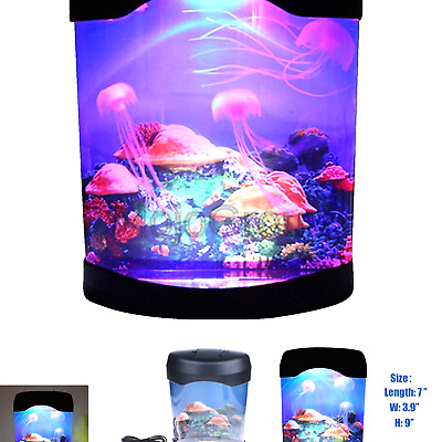 Calover Ocean Decor Electric Jellyfish Tank Aquarium Night Light With Color Chan