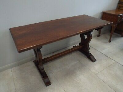 Antique 5ft Solid Oak Refectory Dining Table re3698