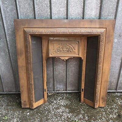 Beautiful Antique Ornate Victorian Cast Iron Fireplace Surround