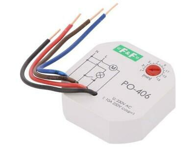PO-406 Timer 10A 230VAC Operation modes lagged-pulse time relays F AND F