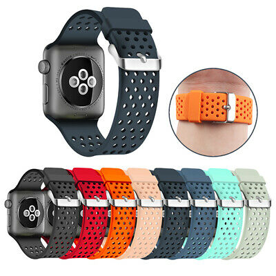 Sports Silicone Watch Band Strap Bracelet For Apple Watch Series 38/42/40/44mm