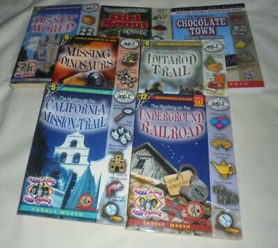 Huge set of 7 Carole Marsh Mysteries series chapter books