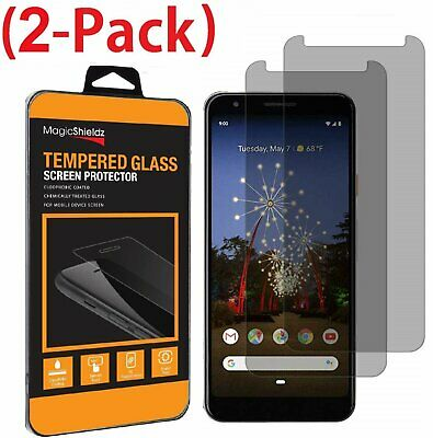 2-Pack (Privacy) Tempered Glass Screen Protector for Google Pixel 3a / 3a XL