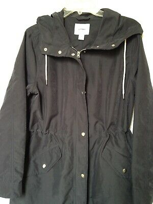 6f8c10f5bd77e H & M Divided Navy Parka Utility Jacket With Hood Size M - $18.00 ...